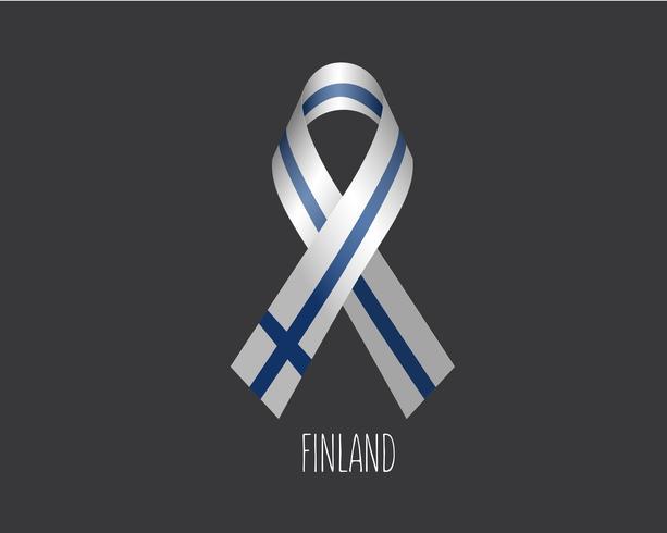 Rouw Finland lint vector