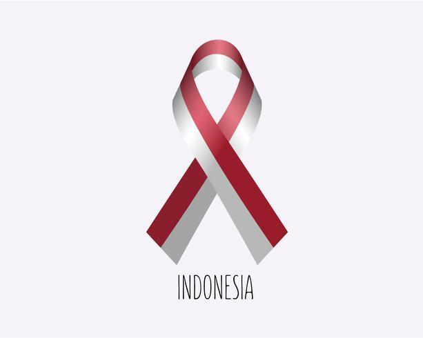 Rouw Indonesië lint vector