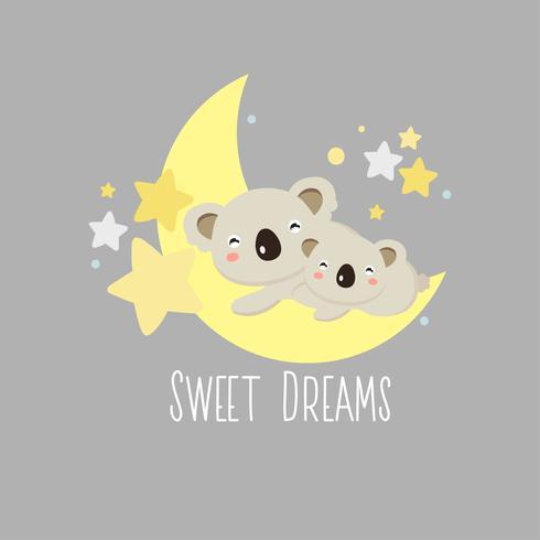 Sweet Dreams Koala wenskaart vector