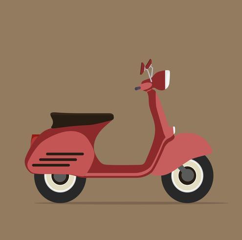 Koel rood motorfiets plat ontwerp vector