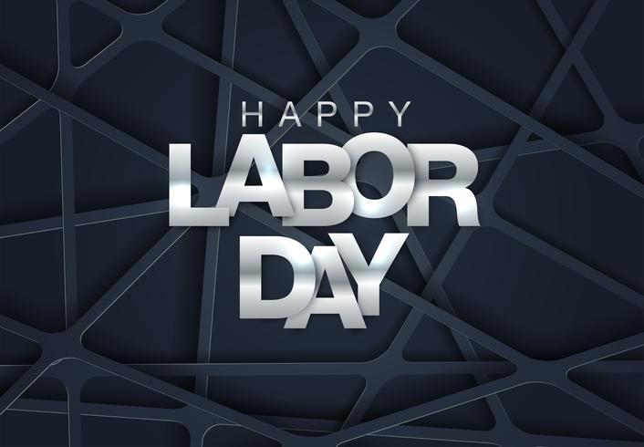 Geometrische Labor Day Card vector