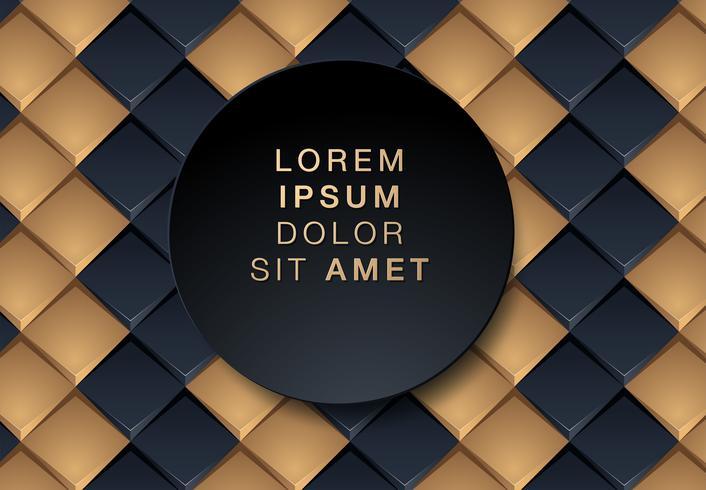 Zwarte en gouden geometrische achtergrond vector