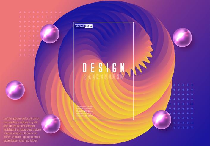Futuristische geometrische achtergrond met kleurovergang vector
