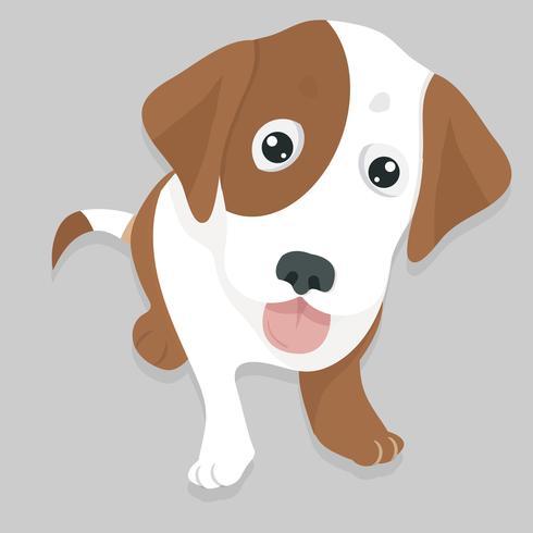 Hond glimlach gezicht hond zitten vector