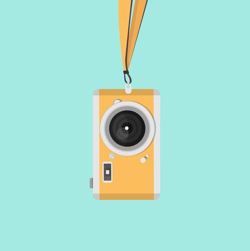 camera aan een riem vector
