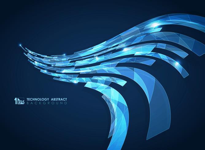 Abstract geometrisch futuristisch ontwerp met gestreepte lijnen vector