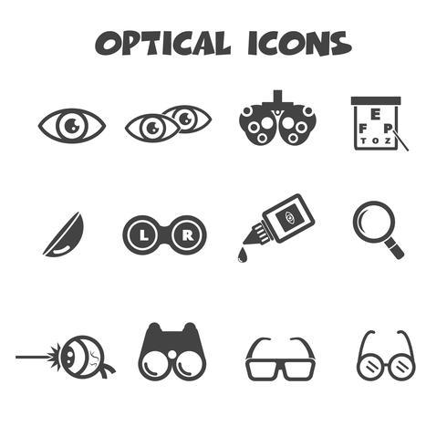 optische pictogrammen symbool vector
