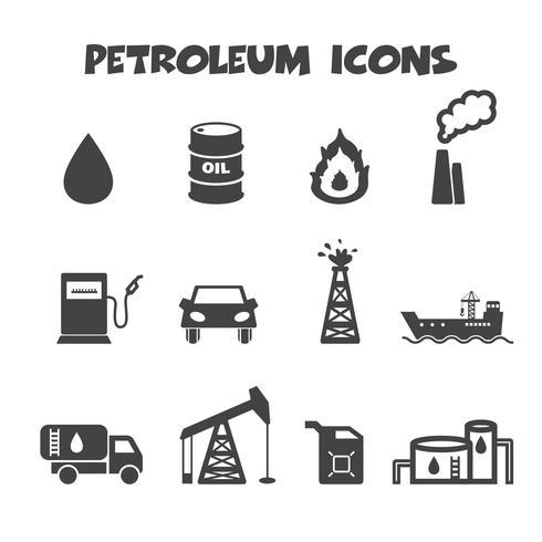 aardolie pictogrammen symbool vector