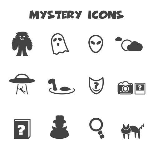 mysterie pictogrammen symbool vector