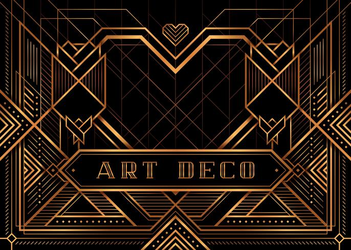 The Great Gatsby Deco Style Poster vector