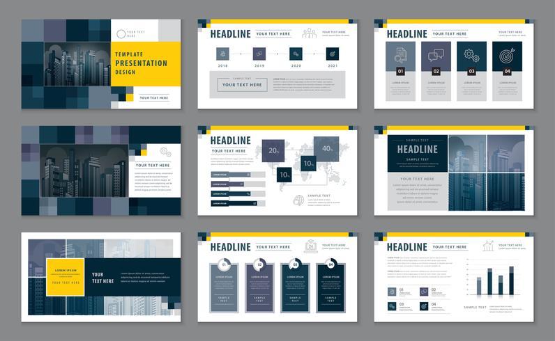Abstracte presentatiesjablonen, Infographic elementen Sjabloonontwerpset vector