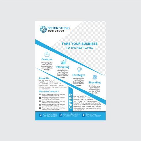 Modern en schoon business flyer-ontwerp vector