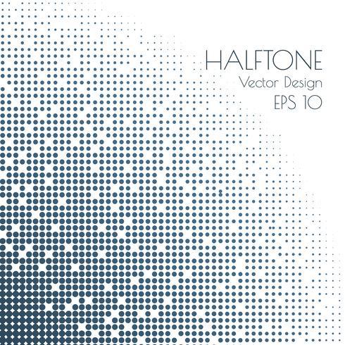 Halftone puntjes poster vector