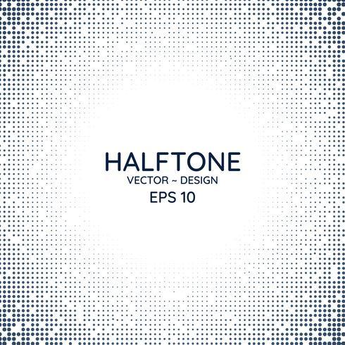 Halftone poster radiale stijl vector