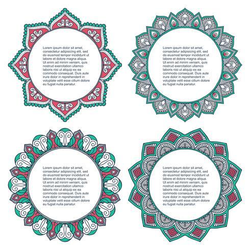Mandala. Ronde Ornament Set vector