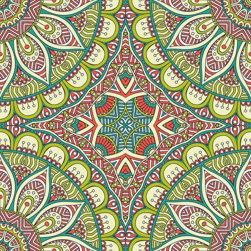 Naadloos patroon in etnische stijl. Vintage decoratieve elementen. vector