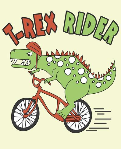 T-Rex Rider Dinosaur vector