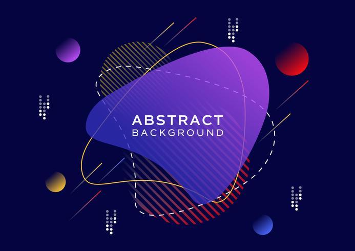 Abstracte posterachtergrond met moderne stijl vector