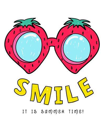 Zomertijd Watermeloen Bril vector