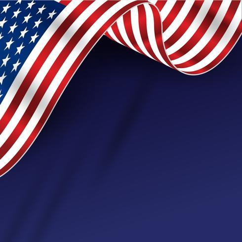 Amerika Vlag Achtergrond vector