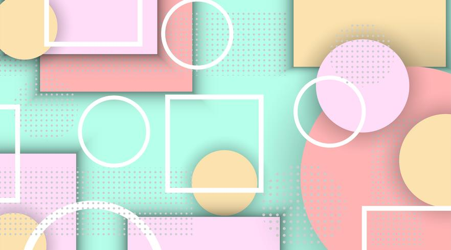 Abstracte Memphis geometrische elementen als achtergrond vector