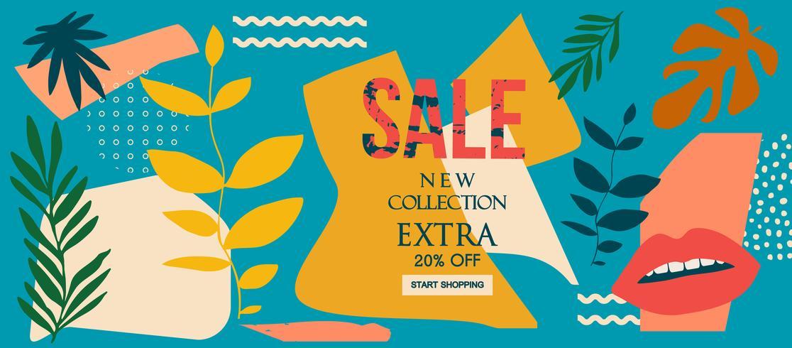 Nieuwe collectie Sale website banner vector