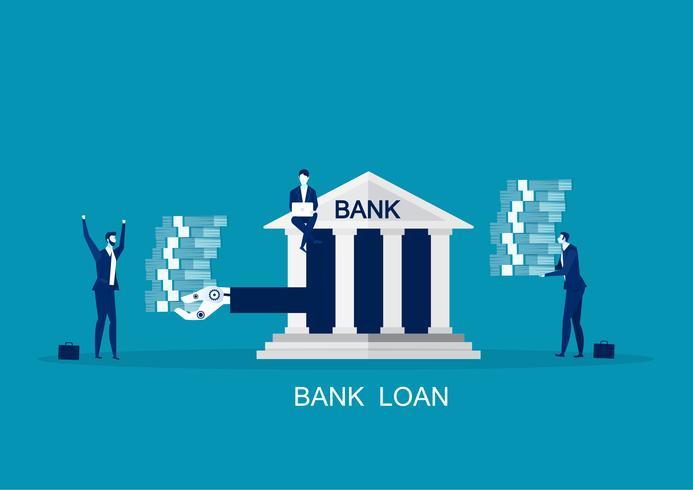 Aanbieding zakelijke leningen, mogelijkheid tot herfinanciering vector