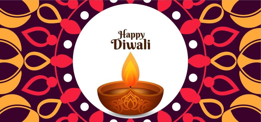 Etnisch vector Gelukkig Diwali-ontwerp