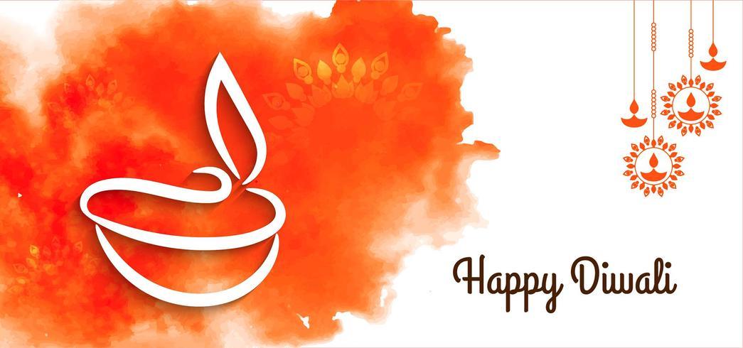 Artistiek Happy Diwali-ontwerp vector