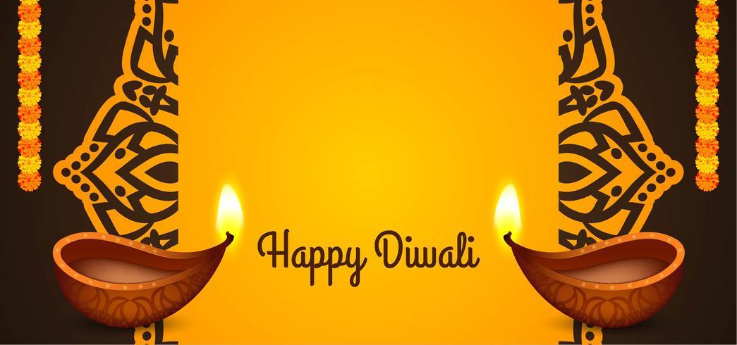 Gelukkig Indisch het festivalontwerp van Diwali vector