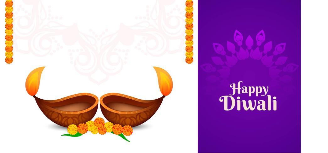 Etnisch elegant Happy Diwali-ontwerp vector