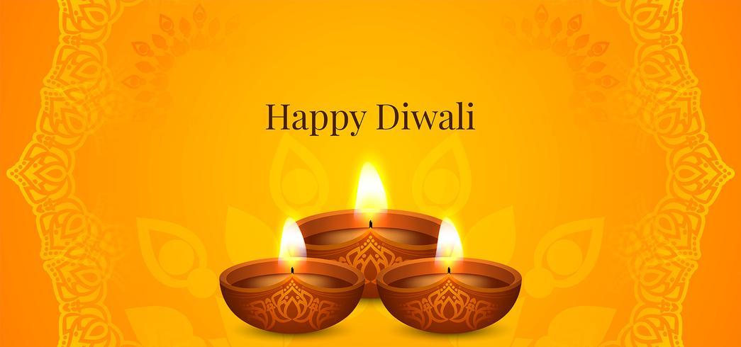 Gelukkig Diwali-helder festivalontwerp vector