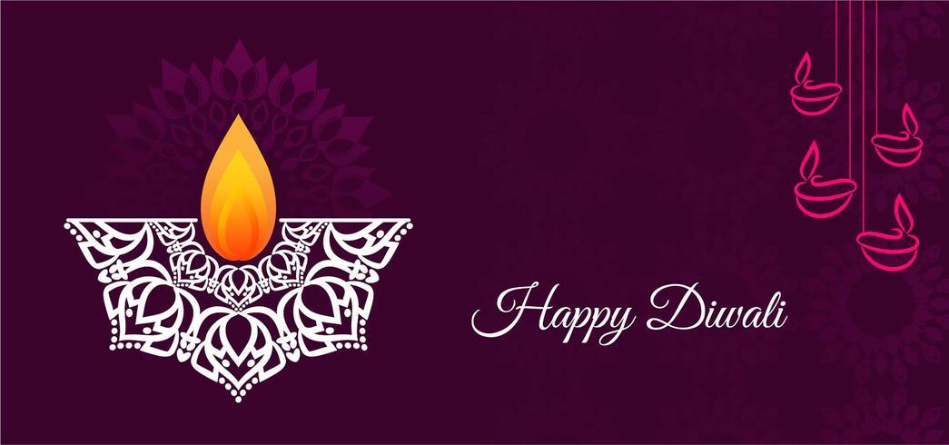 Mooi elegant Happy Diwali-ontwerp vector
