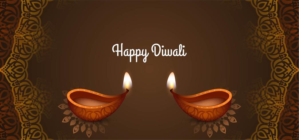 stijlvol decoratief Happy Diwali-ontwerp vector