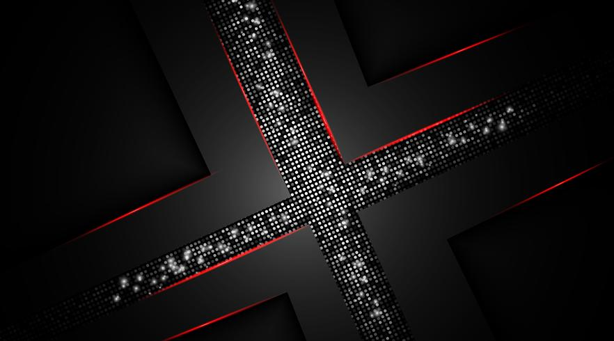 Abstracte donkerrode overlappende achtergrond vector