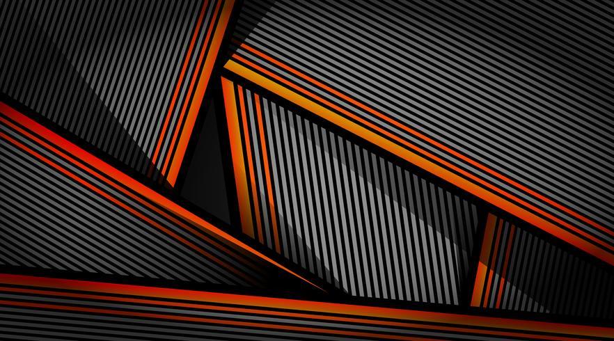 Het abstracte oranje zwarte grijze ontwerp van het blindpatroon vector