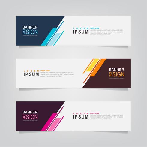 Set van kleurrijke abstracte geometrische banners vector