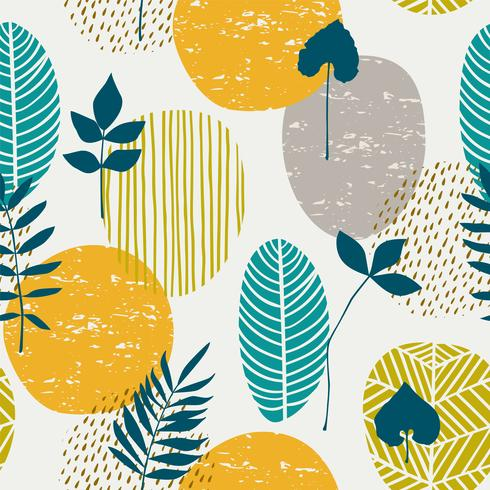 Abstract herfst naadloos patroon vector