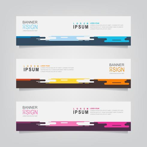 Set van abstracte geometrische kleurrijke Banners vector
