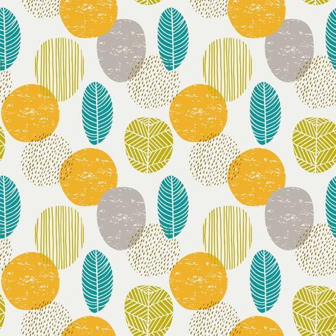 Abstract de herfst naadloos patroon met bladeren vector