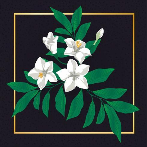 Mooie bloemen bloem Vintage Vector blad aard