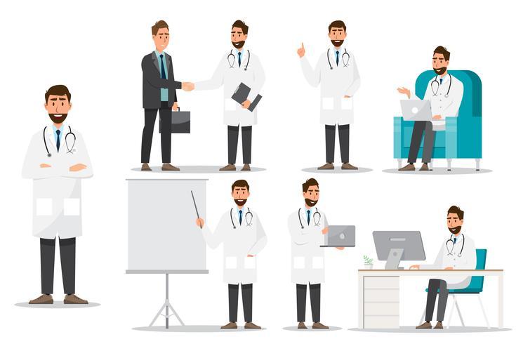 Medisch personeel team concept in het ziekenhuis. vector