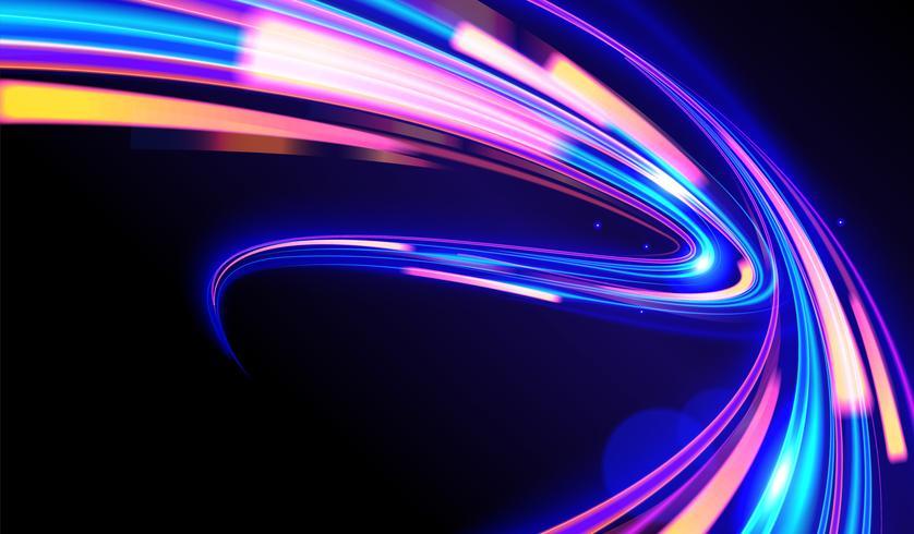 cyberpunk licht paden vector