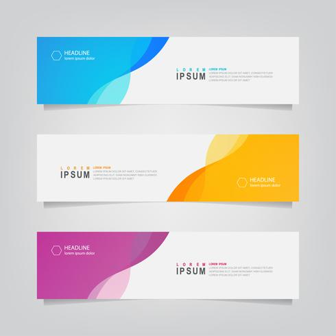 Set van golvende abstracte vorm Banners vector