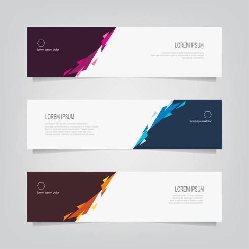 Set van abstracte geometrische hoeken Banners vector