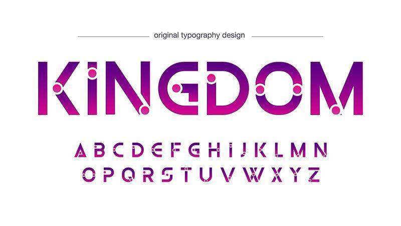 Paarse abstracte futuristische typografie vector