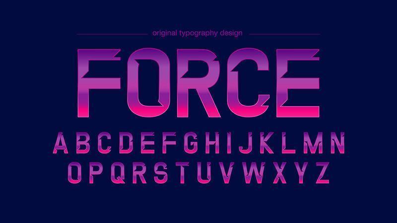 Neon Chrome abstracte sport typografie vector