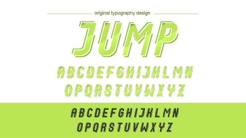 Neon groene actie typografie vector