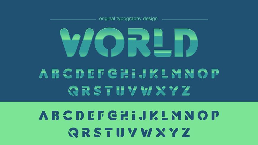 Groenachtig blauwe Chrome Sports-typografie vector