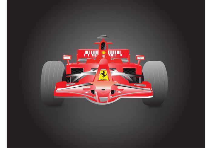 Formule 1 Ferrari vector